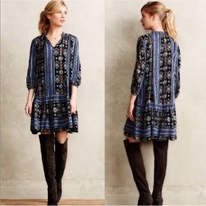 Anthro Holding Horses Winter Moon Tunic Dress